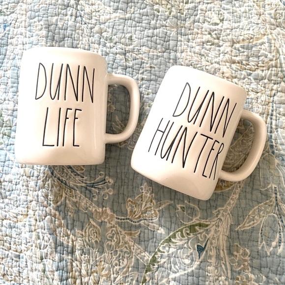 Rae Dunn Mug set Dunn Hunter Dunn Life